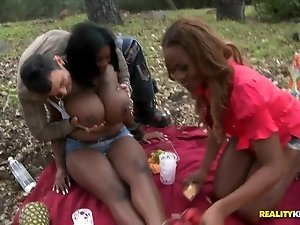 Huge titted ebony sluts Maserati and Tori Taylor gone horny