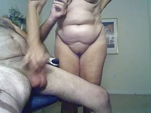 Horny granny couple have sex on camera