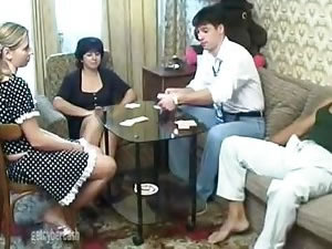 Russian family orgy tube - amateur old and young foursome