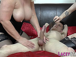Old and young femdom threesome tube