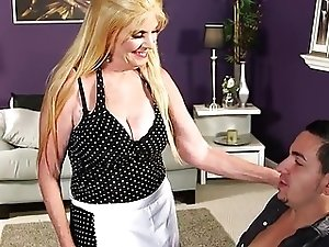 sexy granny takes young cock