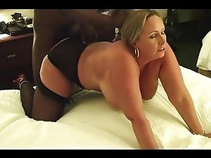 mature wife fucked by BBC in front of husband (cuckold)