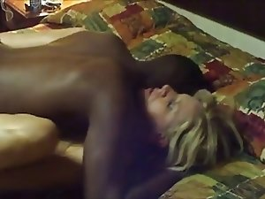 Hot Sex From A Blonde MILF & Her Black Lover