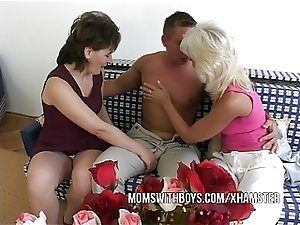 Anal Action With 2 Hot Mature And Young Stud