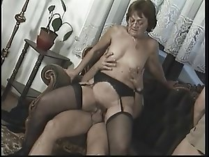 Huge anal creampie for this cock sucking mature bbw slut with huge tits