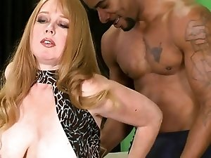 Heather gets creampied by a black dude