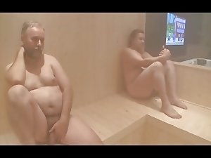 2 Bears,a bloke fucking in the sauna 2 MILFs - by neurosiss