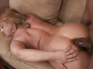 Chubby mature Wife gets her first big black cock in her tight asshole...F70